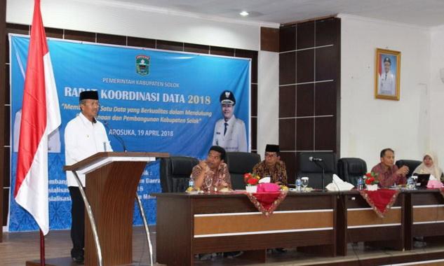 Pemkab Solok Laksanakan Rapat Koordinasi Data 2018