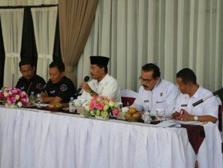Bupati Limopuluah Kota Irfendi Arbi membuka audensi dengan PT.Telkom