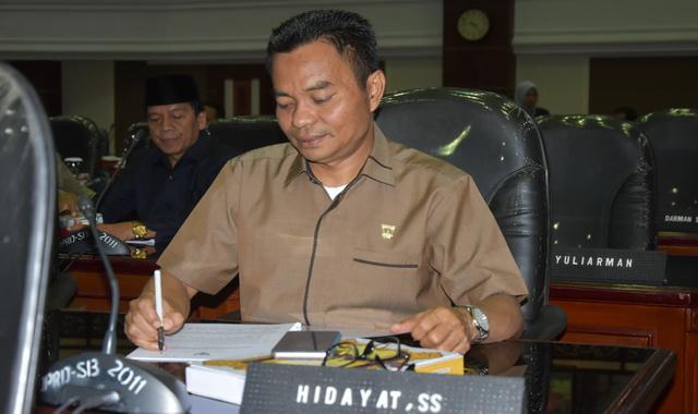 Hidayat Ketua Komisi V DPRD Sumbar
