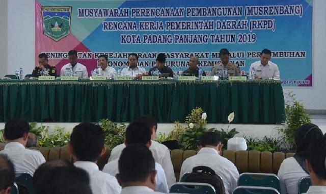 Musrenbang di kota Padang Panjang.