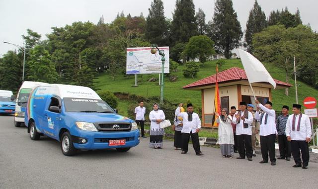 Pelepasan mobil perpustakaan keliling di Kab. Solok.