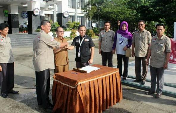 Sosialisasi pencklitan KPU Padang Pariaman.