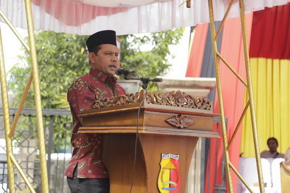 Wakil Walikota Solok Reinier memberikan sambutan saat MTQ ke 38