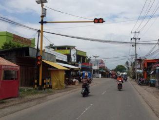 APIL di Simpang Lamposi yang belum berfungsi.