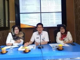 Andri Yulika saat jumpa pers di Media Center Balai Kota Padang.