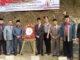 Foto bersama seusai tabur bunga peringatan gugurnua 9 syuhada di titian dalam .