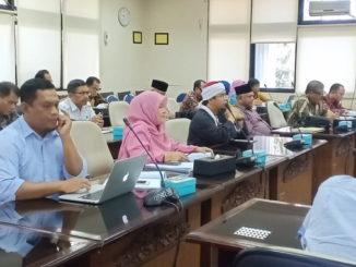 Hearing Komisi V DPRD Sumbar dalammembahas Ranperda Penye;lenggraan Pendidikan.