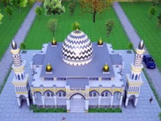 Maket Masjid Al Muttaqin Muhammadiyah.
