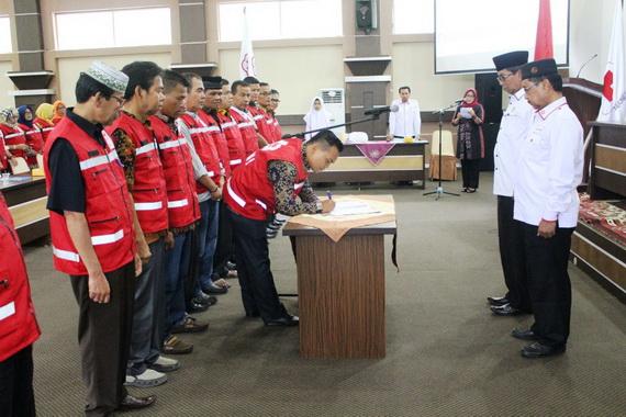 Pelantikan pengurus PMI Kecamatan se Kab. Solok.