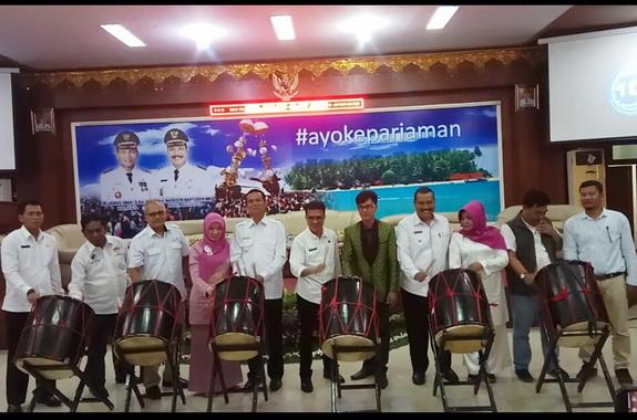 Peluncuran kalender iven wisata Kota Pariaman tahun 2019.