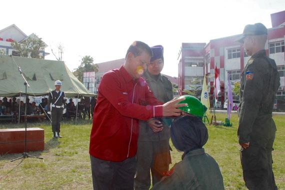 Pembukaan Dikbasis Menwa Batalyon 102 Maha Bhakti UNP membawa semangat pada pengkaderan personil.