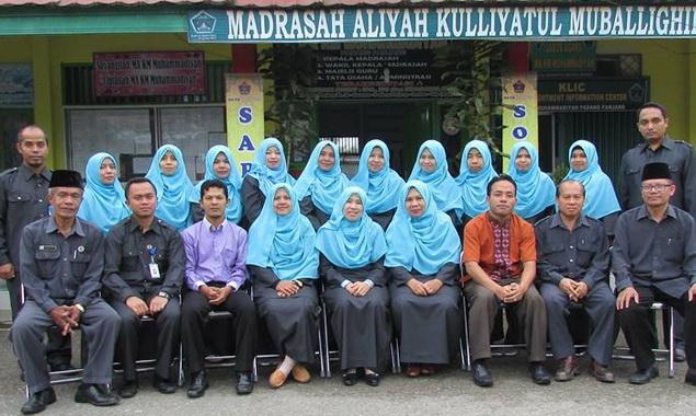 Pengurus dan pengajar MA Kauman Padang Panjang.