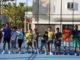Petenis remaja yang berlatih di UNP.