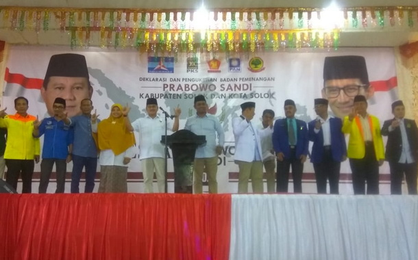 Pimpinan partai pendukung Prabowo - Sandi Kabupaten = Kota Solok.