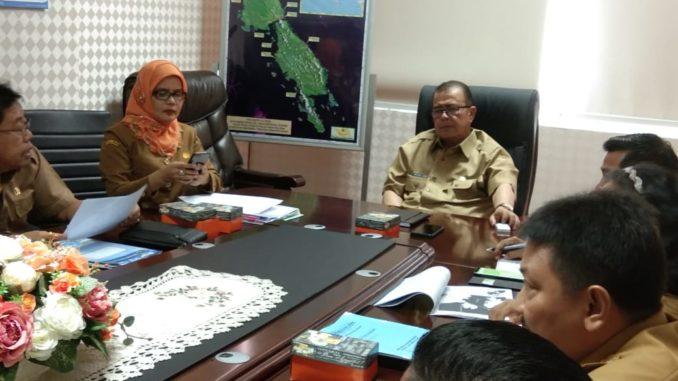 Rapat pembahasan KEK Mandeh di ruang rapat Wakil Gubernur Kantor Gubernur Sumbar.