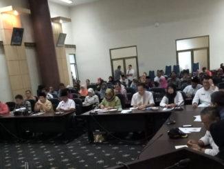 Rapat teknik pembahasan persiapan kegiatan Penas Tani KTNA ke-XVI 2020 di Kota Padang.