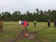 Tendangan pertama pertanda dimulainya Turnamen Sepak Bola Minangkabau Caup II di Nagari Talang.