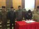 Wakil Gubernur Sumbar Nasrul Abit saat manandatangani nota kesepakatan Ranperda RTRW