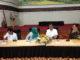 Irwan Prayitno aAAT MEMBUKA rapat Perkembangan Persiapan PENAS Petani - Nelayan XVI tahun 2020 di aula Kantor Gubernur Sumbar..