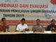 Irwan Prayitno pada acara Rapat Koordinasi Evaluasi Kesiapan Pelaksanaan Pemilihan Umum Serentak tahun 2019.