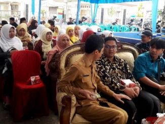 Kepala Dinas Perpustakaan dan Kearsipan Kota Padang Panjang Alvi Sena bersama Juri Lomba Perpustakaan Sekolah Muhammad Fadli dan Muhammad Subhan.