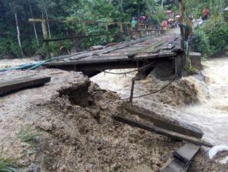 Kondisi jembatan Nenan di Naragi Mek, Limapuluh kota saat ini.