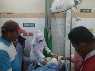 Muhammad Ridho Billah saat dirawat di RSU M. Djamil Padang.