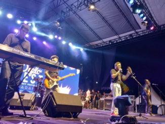 Penampilan IP Band di Lapangan Imam Bonjol Padang.