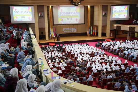 Sosialisasi dan Informasi SN-BMPTN 2019 di UNP Padang.
