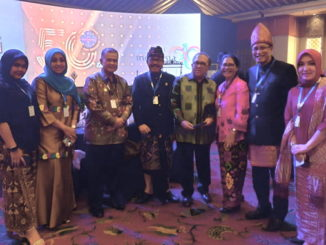 Wagub Nasrul Abit saat menghadiri HUT PHRI.