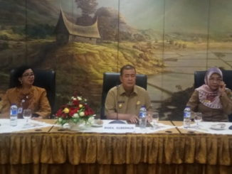 Wagub Nasrul Abit saat rapat sinkronisasi kebudayaan.