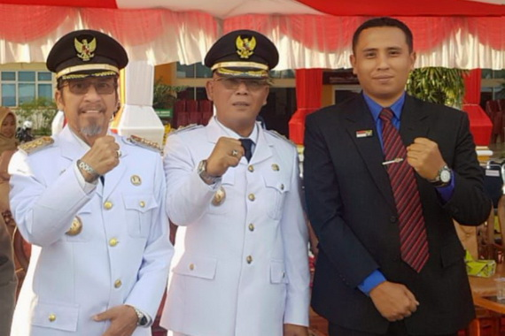 Bupati Syahiran, Wakul Bupati Yulianto dan Yosmar.