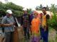 Camat Limo Kaum Afrizal Ayah bersama Yurnelis, Wali Nagari H. Irman Idrus Kutua BKAN Syufrial,Ketua UPK Feri dan Ketua Pemuda Jorong Sigarungguang