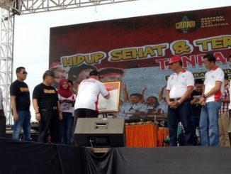 Deklrarasi Melieneal Anti Narkoba di Padang.
