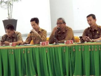 Jumpa pers iven literasi di Padang Panjang.