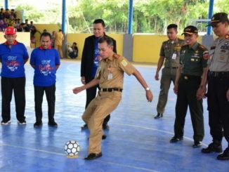 Pembukaan Turnamen Futsal BRI Red Gank Sinjai Tahun 2019.