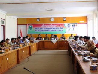 Rapat Koordinasi Dunia Usaha dan Kelembagaan Sosial di Kabupaten Solok, di Ruang Pertemuan Kantor Barenlitbang Kab. Solok.