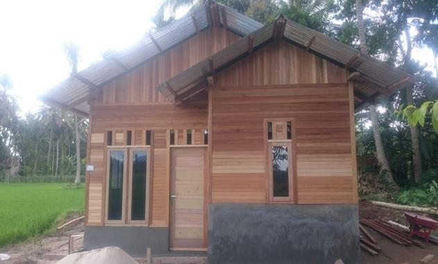Salah satu rumah yang selesai dibedah.