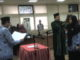 Sekwan DPRDProv Sumbar Raflis SH MM sat mengambil Sumpah Jabatan Yasmin SE