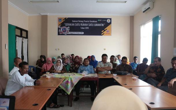 Sosialisasi gerakan satu rumah satu Jumantik yang diadakan di aula Dinas Kesehatan Kota Payakumbuh.