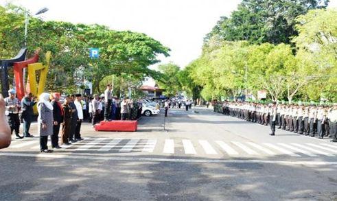 Suasana Apel Siaga di Batusangkar.