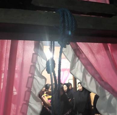 Tali yang dipakai gantung diri oleh Syamsuddin.