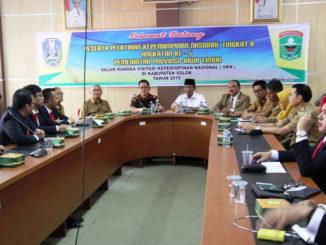 Audiensi peserta Diklatpimnas Jawa Timur dengan Bupati Solok.