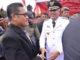 Bupati Pinrang menerima ucapan selamat usai pelantikannya.