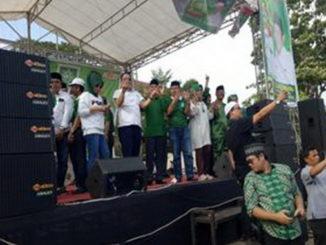 Kampanye caleg PKB di Batusangkar.