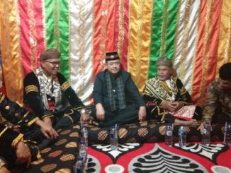 Nasrul Abit Datuak Malintang Panai pada acara Batagak Pengulu kaum suku Panai Kenagarian Panai di Nagari Painan Timur-Painan
