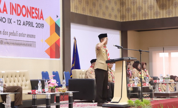 Peringatan Hari Bapak Pramuka Indonesia.