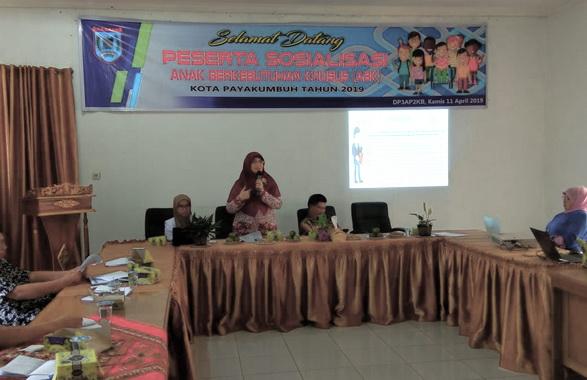 Sosialisasi ABK di Payakumbuh.