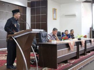Wabub Yulfadri Nurdin saat memberi sambutan.
