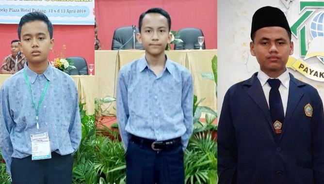 Fauzan Azandra, Rafif Farras dan Ahmad Zaki.